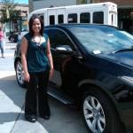 Shanika Peacock with Acura Motors